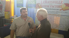 Senator Yaw with LeRaysville Cheese Factory
