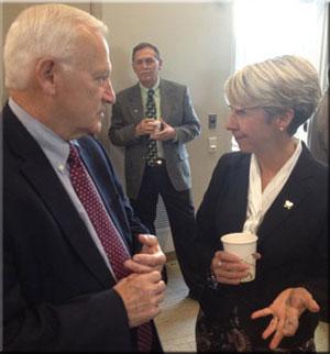 Senator Yaw with Bobbi Kilmer