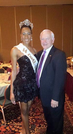 Senator Gene Yaw with PA Coal Queen Alyssa Gallagher