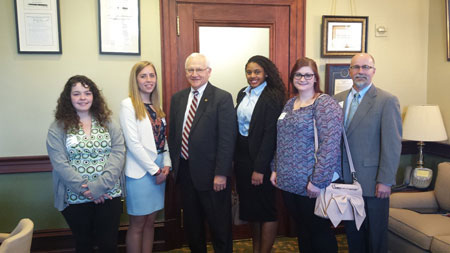 Senator Gene Yaw with Lycoming College Students