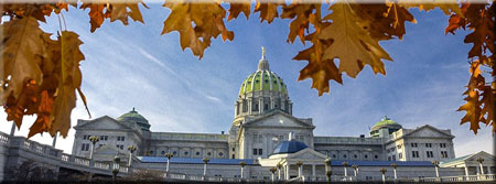 Fall Follage Capitol Dome
