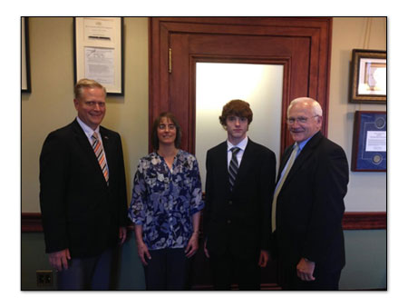 Sandy and Kenneth Shirk with Senator Yaw and Rep Keller