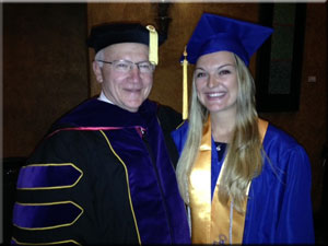 Senator Yaw pictured with Cortney Lyn Weaver, student commencement speaker