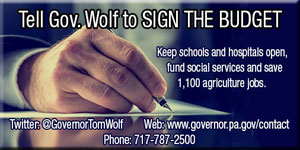 Tell Gov Wolf to Sign the Budget
