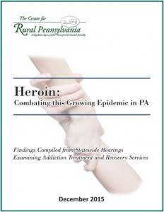 Cover of Heroin: Combating this Growing Epidemic in PA 2015