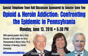 Opioid and Heroin Addiction Telephone Town Hall
