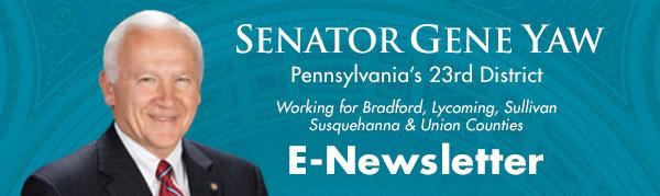 Senator Gene Yaw E-Newsletter